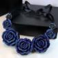 蓝玫瑰项链